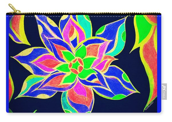 Carry-all Pouch featuring the mixed media Couleur Epanouie by Rachel Maynard