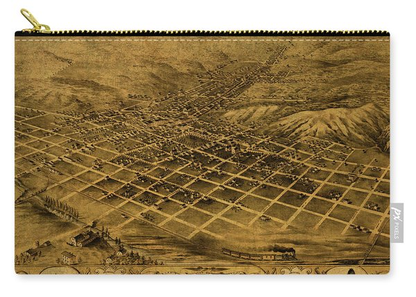 Council Bluffs Iowa Vintage City Street Map 1868 Carry-all Pouch
