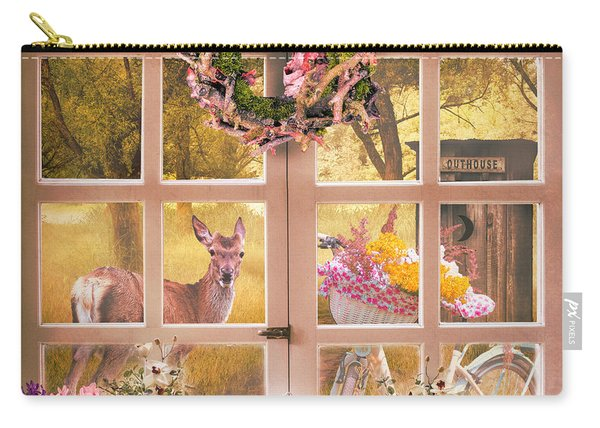 Country Cottage At Sunrise Carry-all Pouch