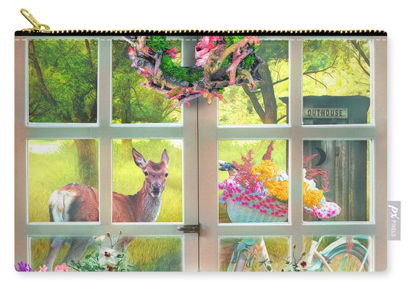 Country Cottage Painting Carry-all Pouch