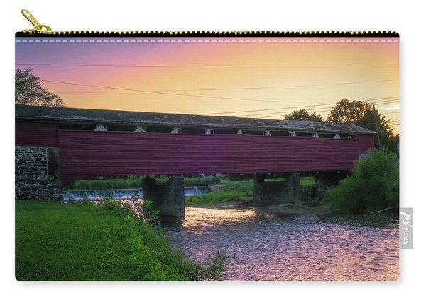 Covered Bridge Sunset Carry-all Pouch