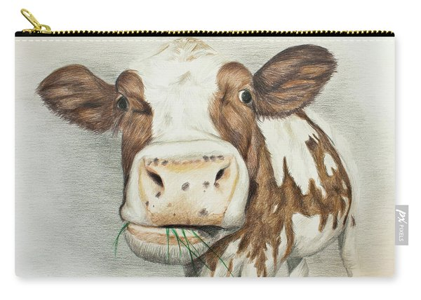 Cow Eating Breakfast Carry-all Pouch
