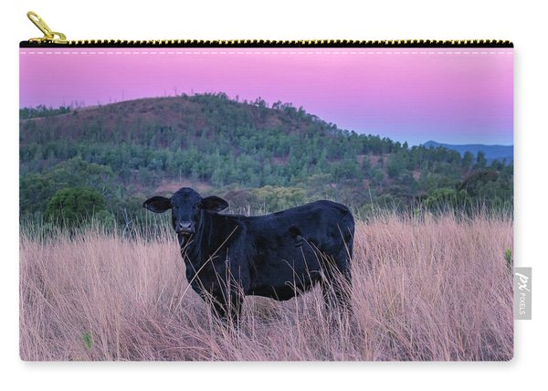 Cow Outside In The Paddock Carry-all Pouch