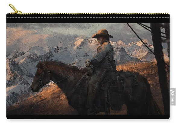 Cowboy American Painting Carry-all Pouch
