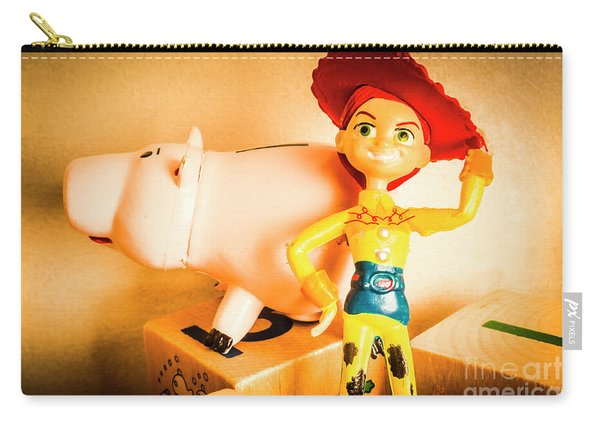 Cowgirl Figurine Carry-all Pouch