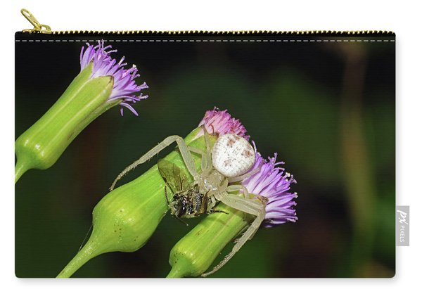 Crab Spider With Bee Carry-all Pouch