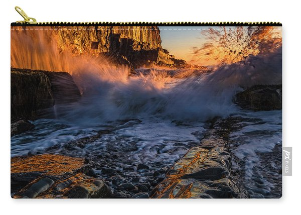 Carry-all Pouch featuring the photograph Crash by Jeff Sinon