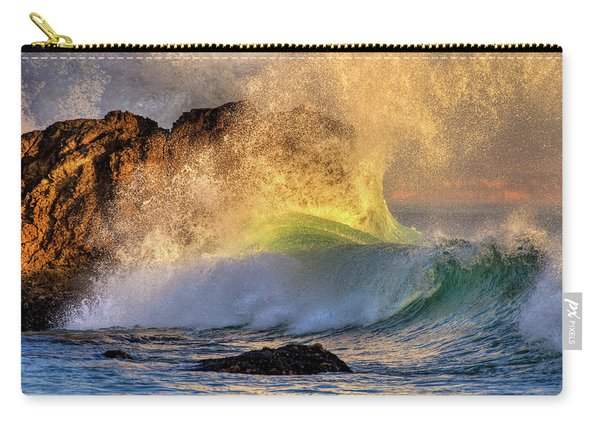 Crashing Wave Leo Carrillo Beach Carry-all Pouch