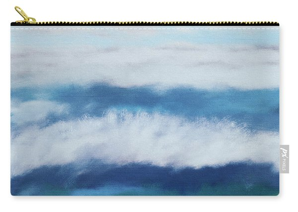 Crashing Waves 2- Art By Linda Woods Carry-all Pouch