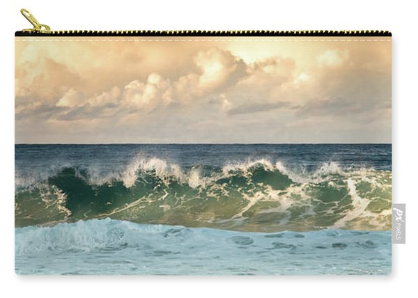 Crashing Waves And Cloudy Sky Carry-all Pouch