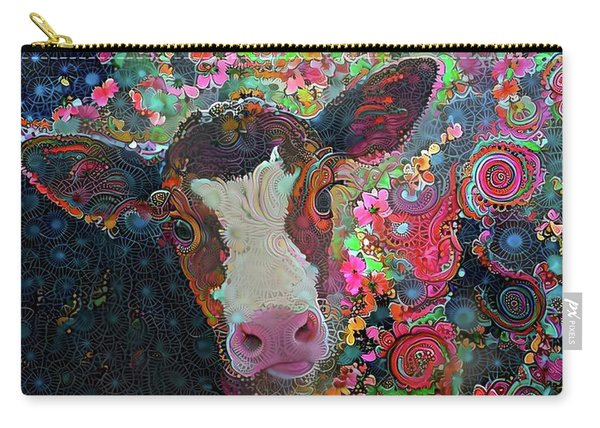 Crazy Colorful Cow Carry-all Pouch