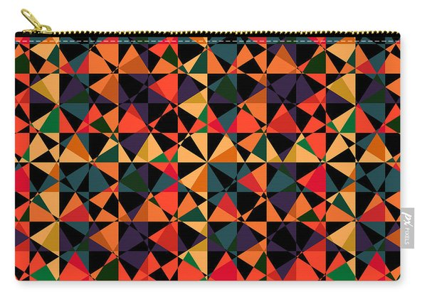 Crazy Psychedelic Art In Chaotic Visual Shapes - Efg214 Carry-all Pouch
