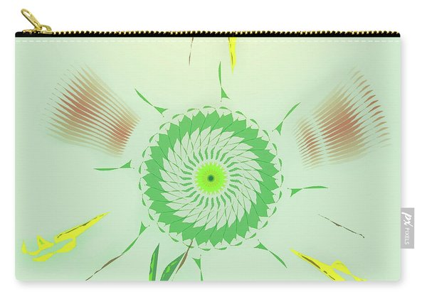 Crazy Spinning Flower Carry-all Pouch