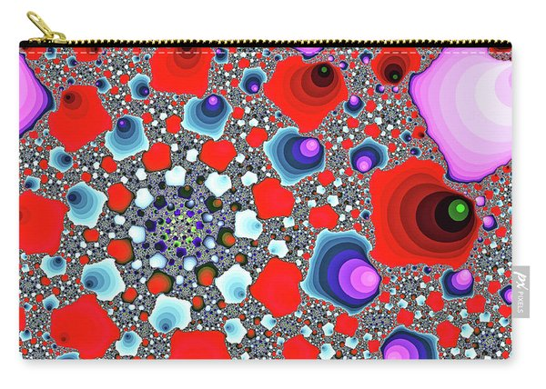 Carry-all Pouch featuring the digital art Creative Spiral Abstract Art by Don Northup
