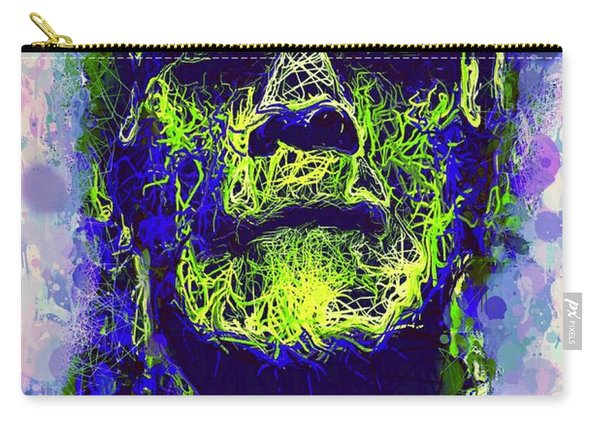 Carry-all Pouch featuring the mixed media Frankenstein Watercolor by Al Matra