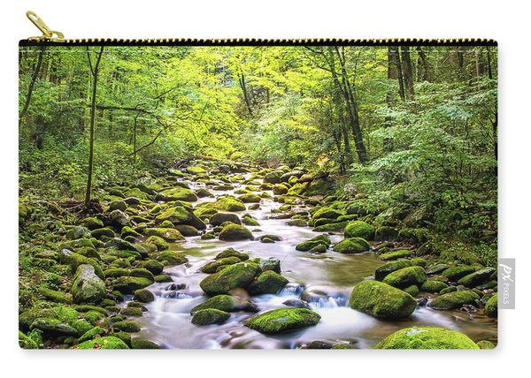 Creek Running Through Roaring Fork In Smoky Mountains Carry-all Pouch