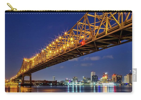The Crescent City Bridge, New Orleans  Carry-all Pouch
