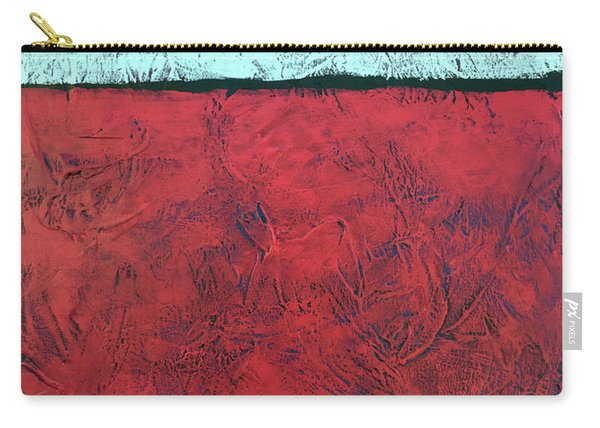 Crimson Earth Meets Pearl Sky Carry-all Pouch