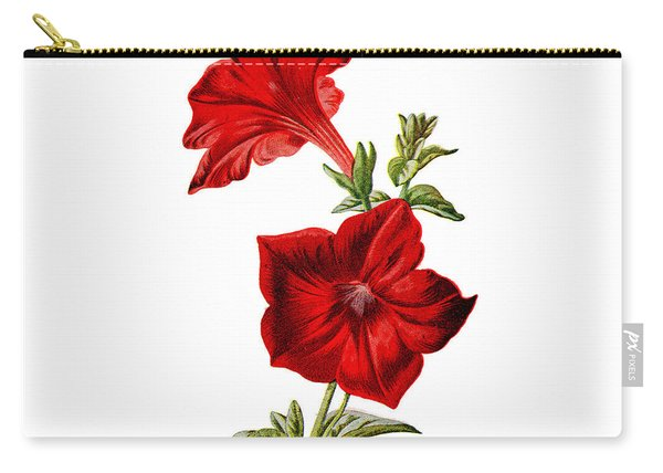 Crimson Petunia Flower Carry-all Pouch