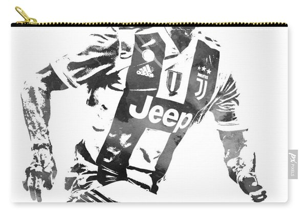 Cristiano Ronaldo Juventus Water Color Pixel Art 4 Carry-all Pouch