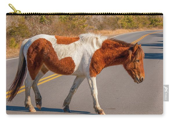 Crossing The Road At Assateague Carry-all Pouch