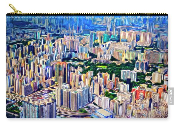 Crowded Hong Kong Abstract Carry-all Pouch