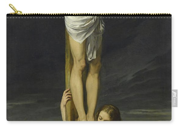 Crucifixion With Mary Magdalene Kneeling And Weeping Carry-all Pouch