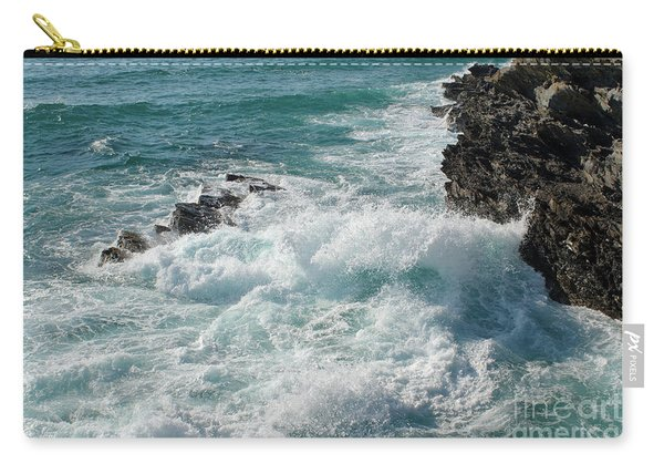 Crushing Waves In Porto Covo Carry-all Pouch