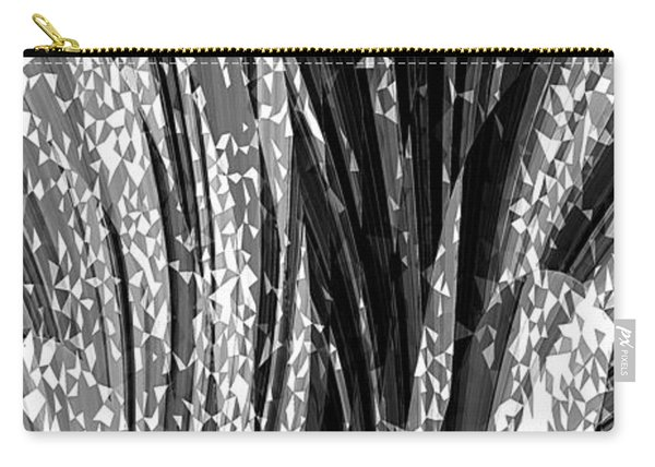 Crystal Floral Black Opposite Carry-all Pouch