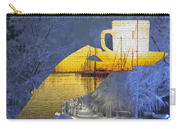 Cup Of Tea In The Winter Evening Carry-all Pouch