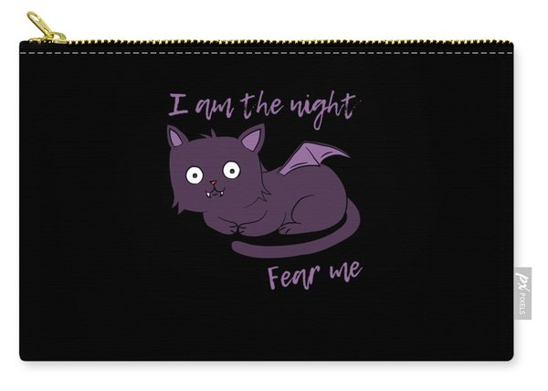 Cute Halloween Cat I Am The Night Fear Me Carry-all Pouch