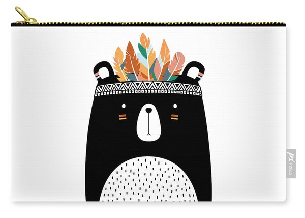Cute Tribal Bear - Boho Chic Ethnic Nursery Art Poster Print Carry-all Pouch