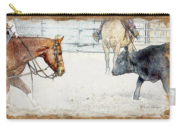 Cutting Horse At Work Carry-all Pouch
