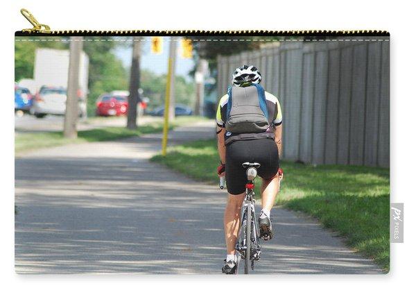 Cyclist On The Go Carry-all Pouch