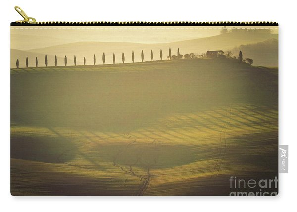 Cypress Line In Tuscan Scenery Carry-all Pouch