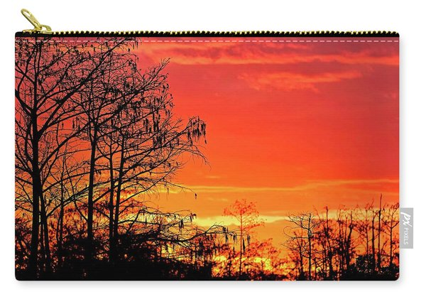 Cypress Swamp Sunset 2 Carry-all Pouch