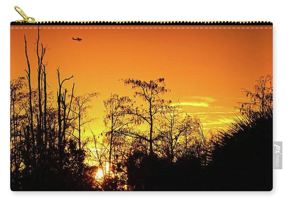 Cypress Swamp Sunset 3 Carry-all Pouch
