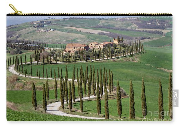 Cypress Tree Alley In Tuscany-4 Carry-all Pouch