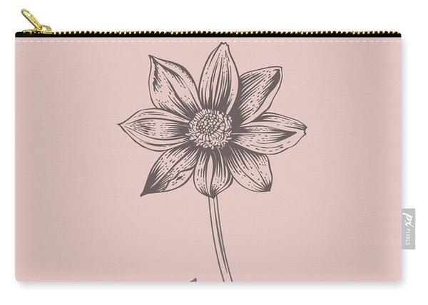 Dahlia Blush Pink Flower Carry-all Pouch