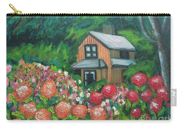 Dahlias In The Woods Carry-all Pouch