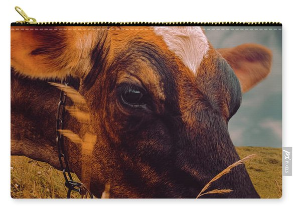Dairy Cow Eating Grass Carry-all Pouch