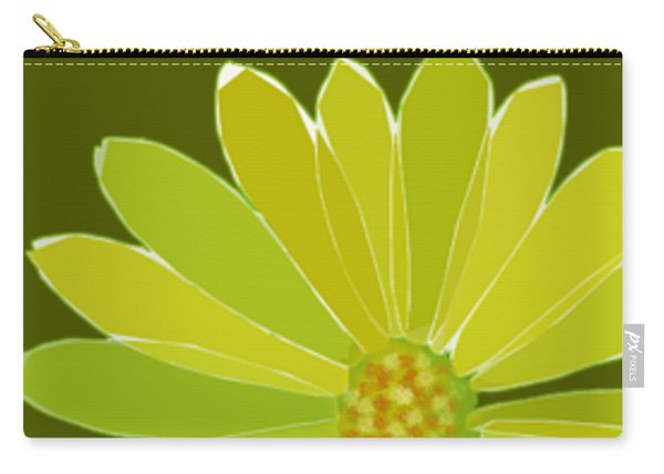 Carry-all Pouch featuring the digital art Daisy, Daisy by Gina Harrison