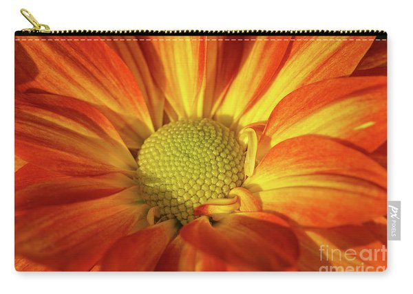 Daisy Mum In Orange And Yellow Carry-all Pouch