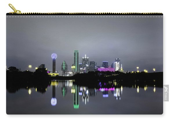 Dallas Texas Cityscape River Reflection Carry-all Pouch