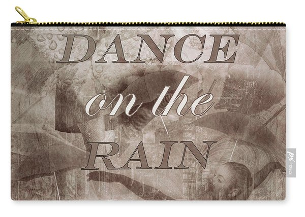 Dance On The Rain In Sepia Tones Carry-all Pouch