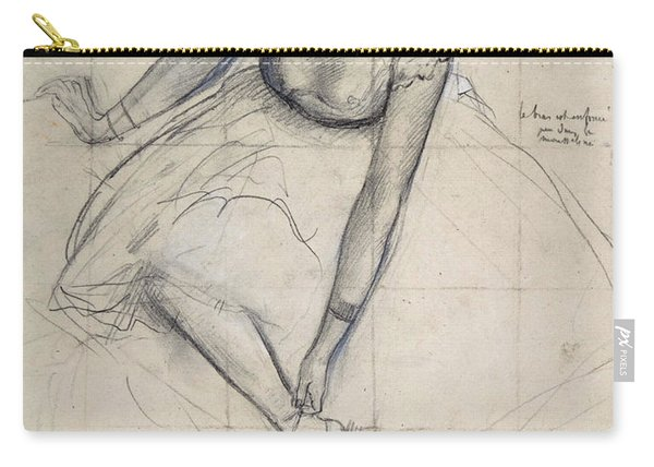 Dancer Adjusting Her Shoe By Degas Carry-all Pouch