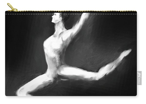 Dancer In Black And White Carry-all Pouch