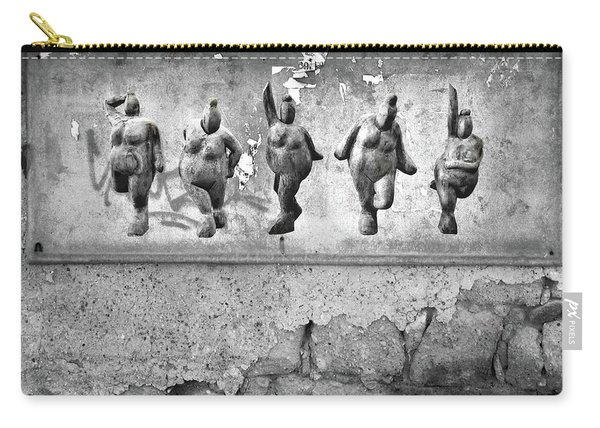 Dancing Venus - Naked Crones Black And White Carry-all Pouch