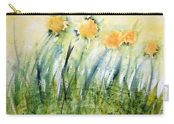 Dandelions In The Grass Carry-all Pouch