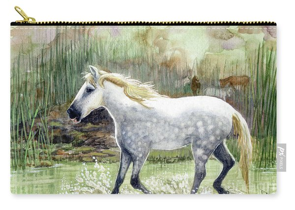 Dapple Grey Wild Horse Carry-all Pouch